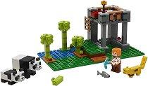 """Детска градина за панди - Детски конструктор от серията """"LEGO Minecraft"""" -"""