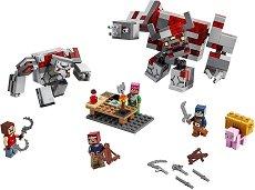 """Битката за Редстоун - Детски конструктор от серията """"LEGO Minecraft"""" -"""