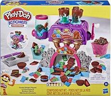 """Фабрика за бонбони - Творчески комплект с моделин от серията """"Play-Doh: Kitchen"""" - творчески комплект"""
