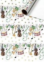 Едностранен опаковъчен лист - Музика - Хартия с размери 70 x 200 cm