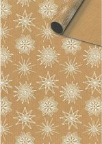 Едностранен опаковъчен лист - Снежинки - Хартия с размери 70 x 200 cm