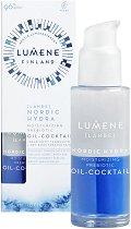 """Lumene Lahde Nordic Hydra Moisturizing Prebiotic Oil-Cocktail - Хидратиращ серум коктейл за лице с пребиотик от серията """"Lahde"""" - продукт"""