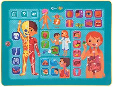 Образователен таблет - Човешкото тяло - Интерактивна играчка на български език - играчка