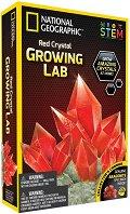 Лаборатория за кристали - Червен кристал - Детски образователен комплект - образователен комплект
