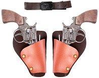 """Револвери, кобури и колан - Каубойски комплект за игра от серията """"Cowboy"""" - играчка"""