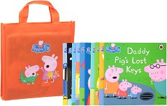 Peppa Pig: Collection of 10 storybooks - Orange bag - пъзел