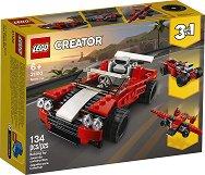 """Спортен автомобил - 3 в 1 - Детски конструктор от серията """"LEGO Creator"""" -"""