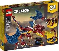 """Огнен дракон - 3 в 1 - Детски конструктор от серията """"LEGO Creator"""" - играчка"""