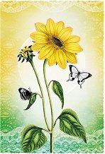 Поздравителна картичка - Цвете -