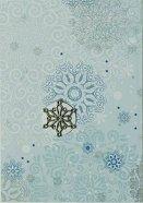 Поздравителна картичка - Сини снежинки -