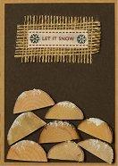 Поздравителна картичка - Дървата в камината - продукт