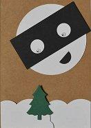 Поздравителна картичка - Луна пират -