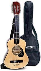 Класическа китара - Детски дървен музикален инструмент -
