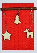 Поздравителна картичка - Коледна украса -