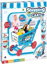 Пазарска количка с продукти - количка