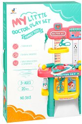 Лекарски кабинет - Детски комплект за игра с аксесоари -