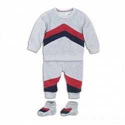 Бебешки комплект - Блуза, панталон и буйки -