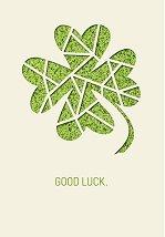 Поздравителна картичка - Good luck -
