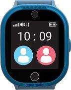 Детски GPS и GSM смарт часовник с тъч скрийн - MyKi Watch 4 Lite Blue - Работещ със SIM карти на всички български мобилни оператори