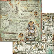Хартия за скрапбукинг - Водолаз - Размери 30.5 x 30.5 cm