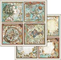 Хартия за скрапбукинг - Рамки с картини - Размери 30.5 x 30.5 cm