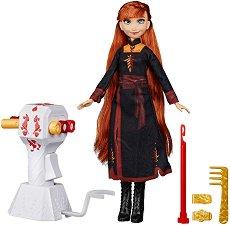 """Направи прическа на Анна - Комплект кукла с аксесоари от серията """"Замръзналото кралство 2"""" - несесер"""