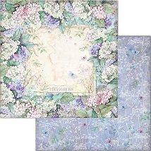 Хартия за скрапбукинг - Рамка от цветя