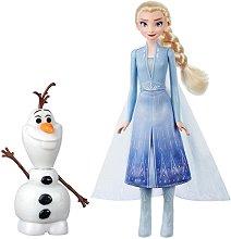 """Елза и Олаф - Комплект кукла и интерактивна играчка със светлинни :  и звукови ефекти от серията  """"Замръзналото кралство 2"""" - продукт"""