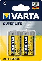 """Батерия C - Въглерод-Цинкова (R14) - 2 броя от серията """"Superlife"""" -"""