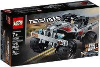 """Камион за бягство - 2 в 1 - Детски конструктор от серията """"LEGO Technic"""" - раница"""