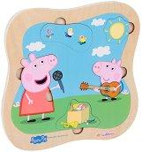 """Музикално представление - Детски дървен пъзел от серията """"Peppa Pig"""" -"""