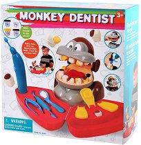 Маймуна зъболекар - Комплект за игра с моделин -
