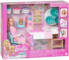 """Спа ваканцията на Барби - Детски комплект за игра с пластилин и аксесоари от серията """"Barbie"""" - кукла"""