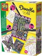Създай сам картички - Doodle Art - Творчески комплект за оцветяване - творчески комплект