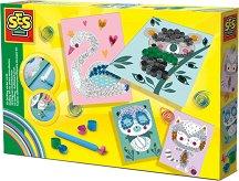 Направи сам - Квилинг картички - Творчески комплект - играчка