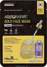 MBeauty Holographic Gold Face Mask - маска