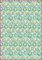 Декупажна хартия - Зелена мозайка - Формат А4