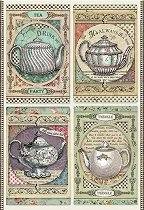 Декупажна хартия - Време за чай - Формат А4