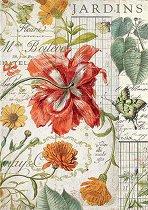 Декупажна хартия - Градински растения - Формат А4