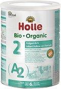 Био преходно мляко - Holle Bio Organic A2 2 - Метална кутия от 800 g за бебета над 6 месеца -