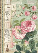 Декупажна хартия - Английски рози - Формат А4