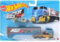 """Super Rigs - Rig Dog - Камион и количка от серията """"Hot Wheels"""" - играчка"""
