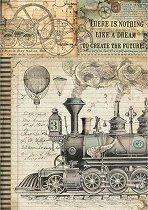 Декупажна хартия - Фантастичен влак - Формат А4