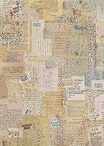 Декупажна хартия - Ръкописи и писма - Формат А4