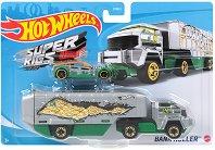 """Super Rigs - Bank Roller - Камион и количка от серията """"Hot Wheels"""" - играчка"""