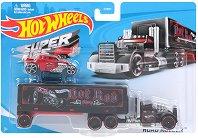 """Super Rigs - Road Roller - Камион и количка от серията """"Hot Wheels"""" - играчка"""