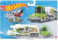"""Super Rigs - Tooned Up - Камион и количка от серията """"Hot Wheels"""" - играчка"""