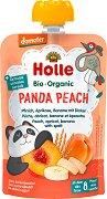 Holle - Био забавна плодова закуска с праскови, кайсии, банани и спелта -