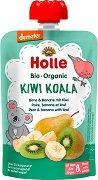Holle - Био забавна плодова закуска с круши, банани и киви - Опаковка от 100 g за бебета над 8 месеца - пюре