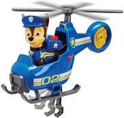 """Чейс и хеликоптер - Детски комплект за игра от серията """"Пес патрул"""" - играчка"""